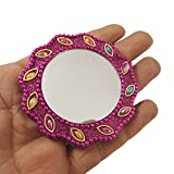 Handheld Mirror Home Decor Travel Accesserrios Gift For Her Decorative Wall Handmade Travel Accesserios Purse Pouch Cosmatic Mirror