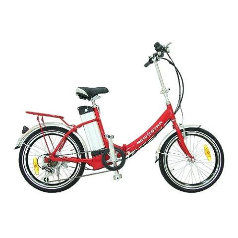 リチウムバッテリー 折りたたみ 20インチ 電動アシスト自転車 レッド636