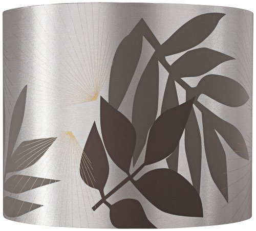 Taupe Satin Leaves Lamp Shade 13.5X13.5X11 (Spider) front-1029736