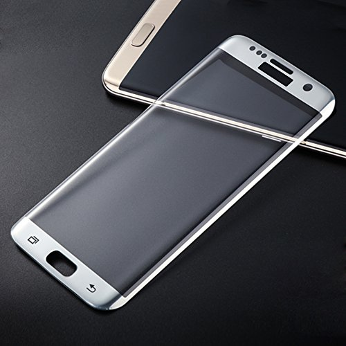 Galaxy S7 Edge Screen Protector, Auto Safety 3D curved Tempered Glass Screen Protector Full Coverage HD Clear Anti-Bubble Military Grade Cover, Edge to Edge (silver)