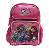 Monster High Large Pink Backpack 16 with Lanyard