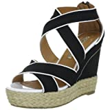 Buffalo London 311-4180 CANVAS DENVER LEA 128632 Damen Sandalen/Fashion-Sandalen