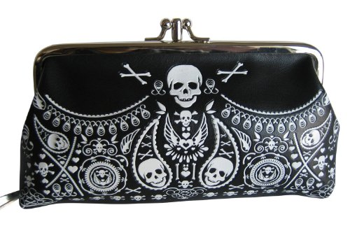 Sugar Skull Women's Bandana Clutch Coin Purse