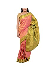 Kothari Pink Silk Saree For Women