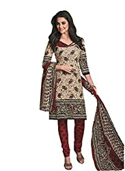 Design Willa Cotton Dress Material Saree (DW0299)