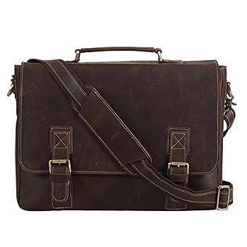 Polare Men's Thick Genuine Leather Messenger Bag