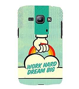 EPICCASE Work Hard Dream Big Suited Mobile Back Case Cover For Samsung Galaxy J1 (Designer Case)