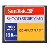 SanDisk Shoot & Store - Flash memory card - 128 MB - CompactFlash