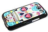 Designer Sugar Skulls Diamond eyes trend Fashion SAMSUNG GALAXY S3 I9300 Case Back Cover-Black Frame