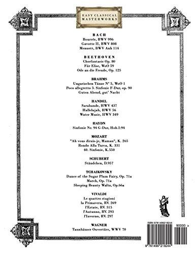 Obras-Primas da Música Clássica para o Fagote: Peças fáceis de Bach, Beethoven, Brahms, Handel, Haydn, Mozart, Schubert, Tchaikovsky, Vivaldi e Wagner (Easy Classical Masterworks)