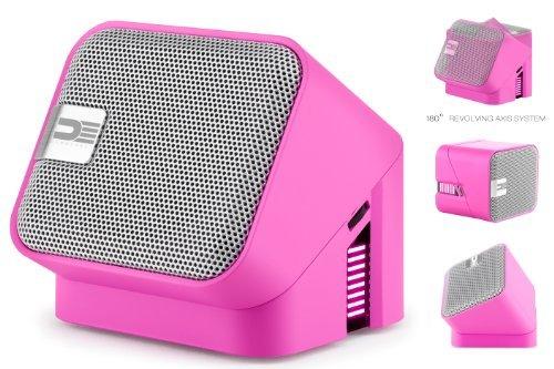 Democracy Deg100P Wireless Bluetooth Portable Speaker Speakerphone (Pink)