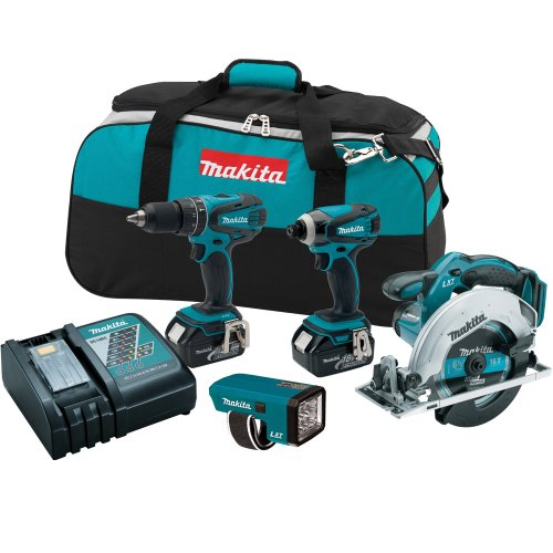 Makita Lxt437 Combo Kit, 4-Piece