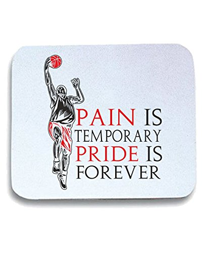 T-Shirtshock - Tappetino Mouse Pad T0236 PAIN IS TEMPORARY PRIDE IS FOREVER sport, Taglia taglia unica