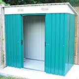Woodside Darlington 4 x 8' Metal Garden Pent Roof Shed with FREE Foundation