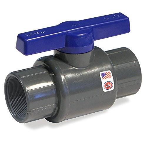 King Brothers Inc. LT-1500-T 1-1/2-Inch Threaded PVC Schedule 80 Commercial Ball Valve, Gray (Schedule 80 Pvc Ball Valve compare prices)