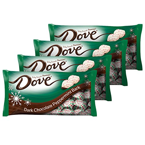 DOVE PROMISES Holiday Dark Chocolate Peppermint Bark Candy 7.94-Ounce Bag (Pack of 4) (Chocolate And Candy compare prices)