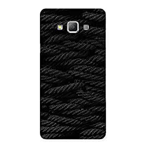 Premium Rope Pattern Back Case Cover for Galaxy A7