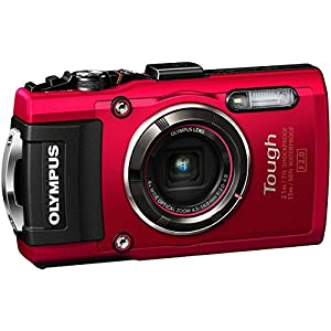 Olympus TG-4 16 MP Waterproof Digital Camera with 3-Inch LCD (Red)(Certified Refurbished)