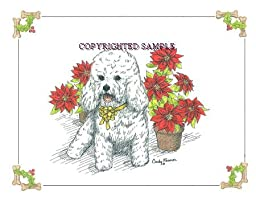 Bichon Frise - Christmas Design by Cindy Farmer