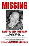 Breaking Bad Walter White Missing TV Poster Masterprint