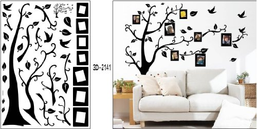 Black Photo Picture Frame Tree Vine Branch Removable Wall Decor .