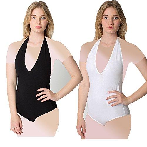 american-apparel-spandex-halter-leotard-low-cut-v-neckline-white-small