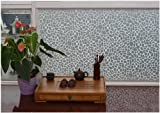 Hogar Adhesive Cling Vinyl Decorative Privacy Frosted Stain Glass Window Film White 3 FT x 7 FT