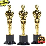 """Oscar Star Trophies for Award Ceremonies or Parties 6"""" High - Perfect Achievement Awards or Christmas Gifts for Kids and Adults"""