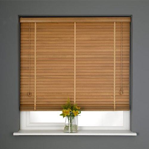 Sunlover Wooden 35mm Hardwood Venetian Blind, Oak, W180cm