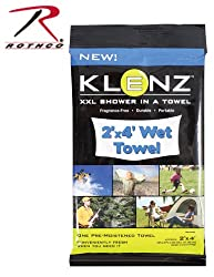 Klenz 2' x 4' Pre-moistened Shower Towel US Made