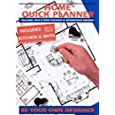 Home Quick Planner Reusable Peel Stick Furniture Architectural Symbols