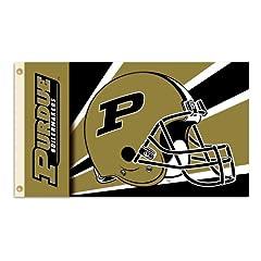 Buy NCAA Purdue Boilermakers 3-by-5 Foot Flag with Grommets - Helmet Design by BSI