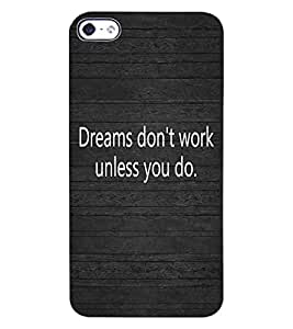 ColourCraft Inspirational Quote Design Back Case Cover for APPLE IPHONE 4