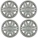 Set Of Four 15 Inch 1996, 1997, 1998, 1999, 2000, 2001, 2002, 2003, 2004, 2005, 2006 Chrysler Sebring Convertible Hubcaps Wheel Covers With A Silver Finish