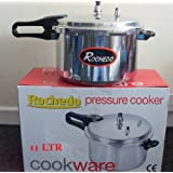 High Quality Aluminium 11ltr Kitchen Pressure Cooker With Dual Handle New
