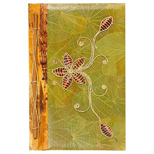 All Natural 60 Photo Handmade Photo Album - Flower Design