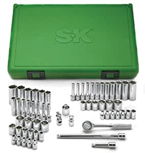 SK 91860 1/4-inch Drive 60-Piece 6 Point Socket Super Set