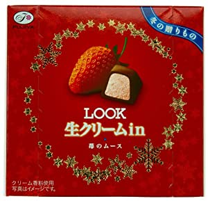 Fujiya 'Look' Chocolate Candy - Fresh Cream Strawberry Mousse (Japanese Import) [HA-ICNI]
