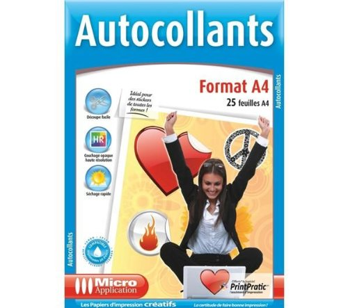 Micro application autocollants pas cher for Papier autocollant exterieur