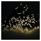 AGPtek® 22m 72ft 2 Light Modes Solar Power Warm White Fairy Light String Holiday Lights for Christmas Party