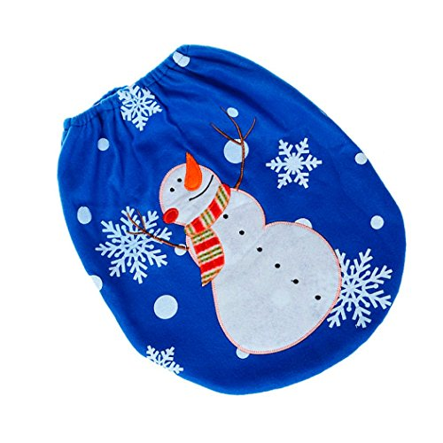 Christmas-Decoration-Bathroom-Decor-Blue-Smiley-Snowmen-Toilet-Seat-Cover-Single-Lid-Festival-Home-Decor-Xmas-Gift-by-Transer