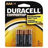 Duracell Coppertop Batteries, Alkaline, AAA, 4 batteries