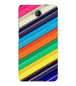 PrintVisa Colorful Stripes Pattern 3D Hard Polycarbonate Designer Back Case Cover for Nokia Lumia 650