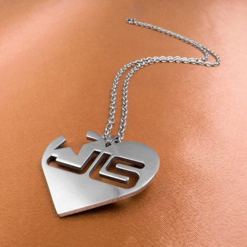 JLS Solid Heart Necklace