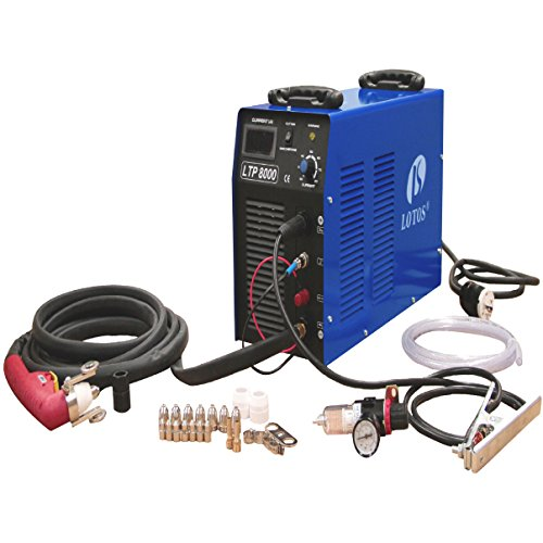 LOTOS LTP8000 80Amp Pilot Arc Air Plasma Cutter 220V for Thicker Metals 1inch Clean Cut