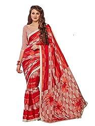 Pushkar Sarees Crepe Saree (Pushkar Sarees_4_Red)