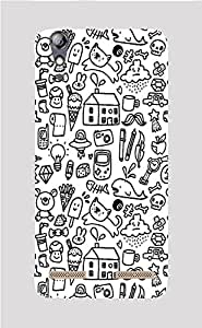 Back Cover for Lenovo A6000 Plus ABSTRACT ART 2