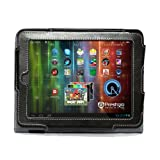 Navitech Faux Leather Case with Stand and Hand Strap for Archos Titanium and Cobalt (Archos 80 Cobalt, Black)