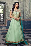 Aryaa Fashion Women's Net Anarkali Suit Dress Material (ARA10021A _Pista Green)