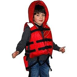 津波・水害対策用 防災頭巾付き救命胴衣 子供用